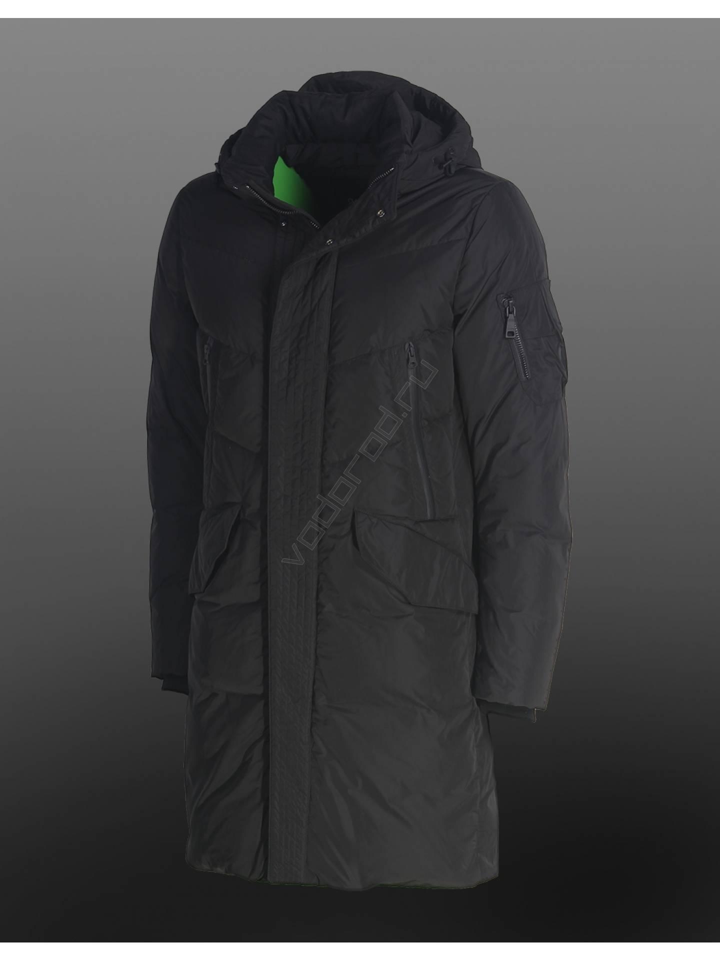 Пуховик зимний CLASNA 049-Z (черный)