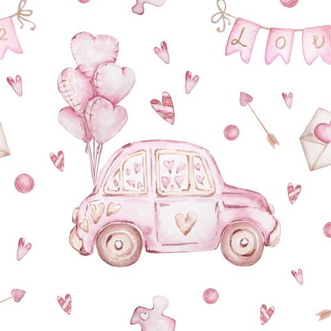 Розовые машинки