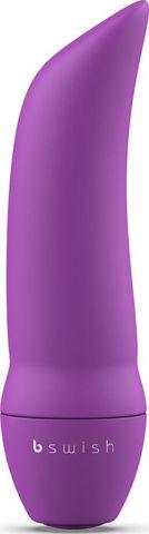Фиолетовая вибропуля Bmine Basic Curve - 7,6 см.