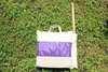 Гамак кресло из льна фиолетовый RGK5F
