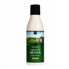 Смягчающий шампунь для волос Deoproce с зеленым чаем и хной 200 мл