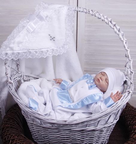 Набор для крещения мальчика Маленький принц голубой