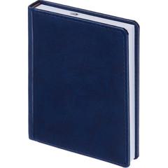 Ежедневник недатированный Attache Сиам искусственная кожа А6 176 листов синий (110x155 мм)