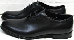 Мужские стильные туфли oxford Ikoc 063-1 ClassicBlack.
