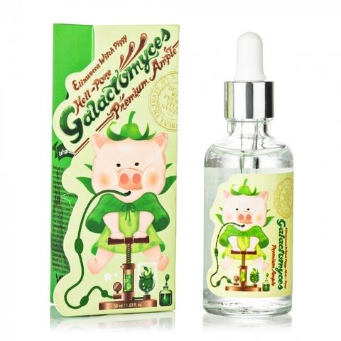 Elizavecca Witch Piggy Hell-Pore Galactomyces Premium Ample 97% Восстанавливающая сыворотка для лица с экстрактом галактомисиса, 50мл