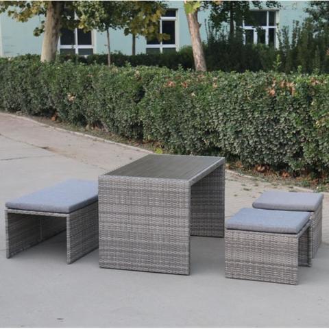 Плетеный диван-трансформер S330G-W78 Grey МРК