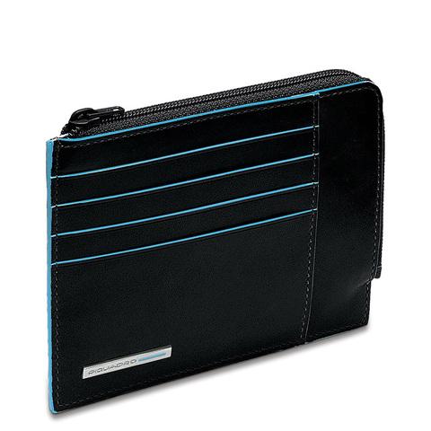 Чехол для кредитных карт Piquadro Blue Square, черный 12,5x9x1 см