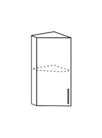Шкаф верхний торцевой