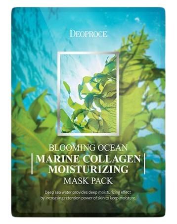 Deoproce Набор тканевых масок DEOPROCE BLOOMING MARINE COLLAGEN MOISTURIZING MASK PACK (25 г*5 шт) image-0__4_.jpg