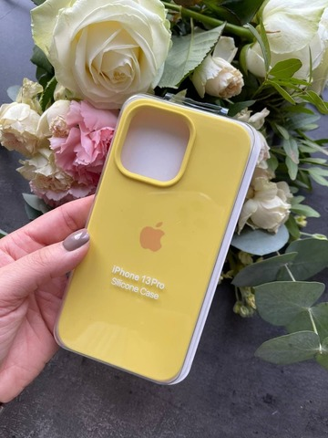 Чехол iPhone 13 Pro Max Silicone Case Full /canary yellow/