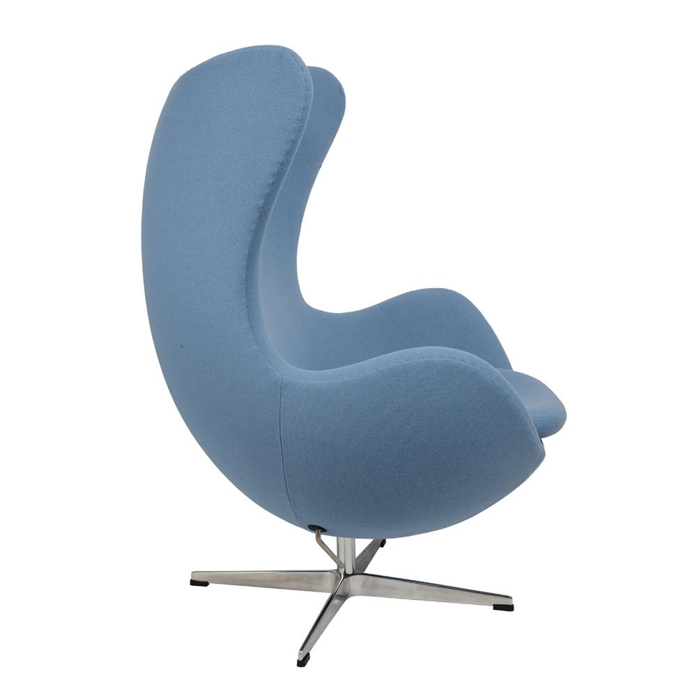 Кресло Arne Jacobsen Style Egg Chair голубая шерсть - вид 2