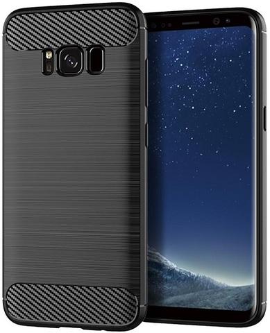 Чехол Samsung Galaxy S8 цвет Black (черный), серия Carbon, Caseport