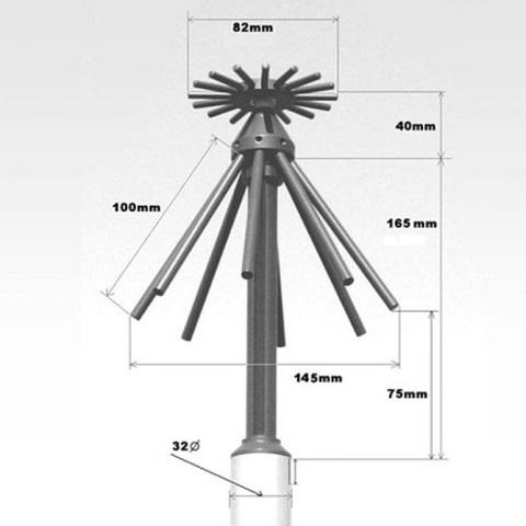 Приемная широкополосная диско-конусная антенна AOR DA6000