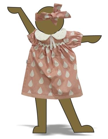 Платье с воротничком - Демонстрационный образец. Одежда для кукол, пупсов и мягких игрушек.