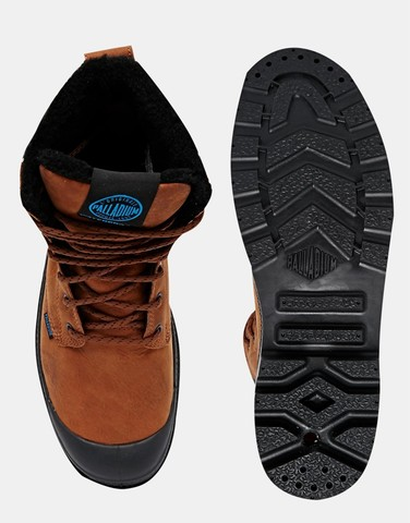 Palladium Shearling Look Boots