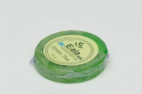 Мыло с люфой и зеленым чаем Elaia Spa 100 гр