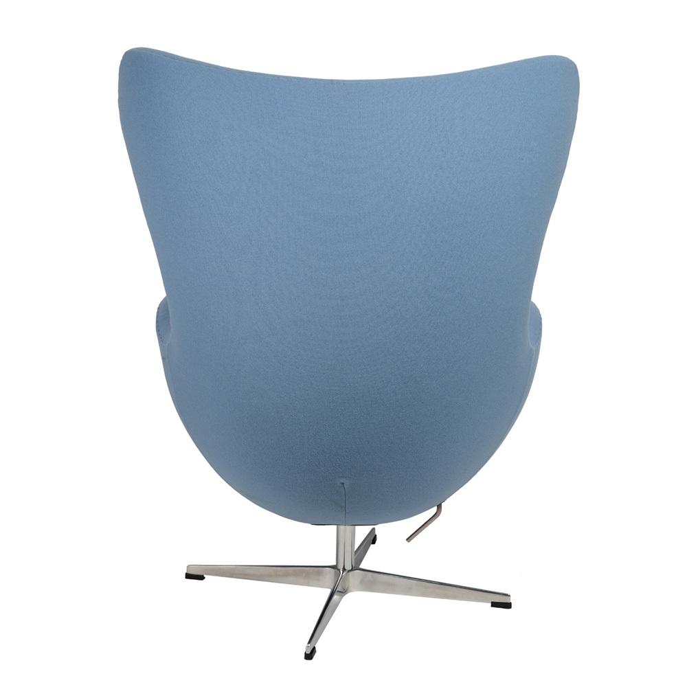 Кресло Arne Jacobsen Style Egg Chair голубая шерсть - вид 4