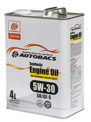 AUTOBACS ENGINE OIL SYNTHETIC 5W30 SN/GF-5 (4л)