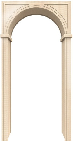 Арка универсал 300 ПВХ (беленый дуб), фабрика Европейские арки