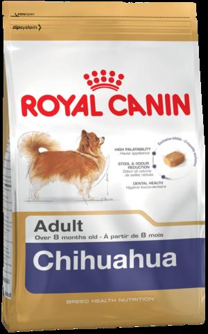 Для собак породы Чихуахуа старше 8 месяцев