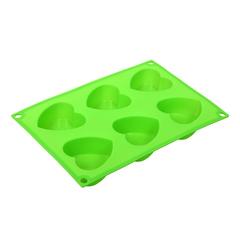 Форма для выпечки из силикона «Сердечки» 27х18х3 см 6 ячеек