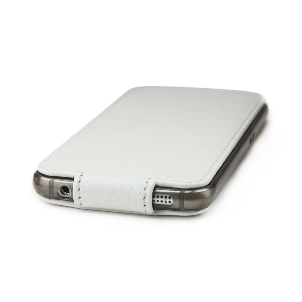 Чехол для Samsung Galaxy S6 из натуральной кожи теленка, белого цвета