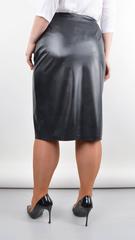 Бела. Модная юбка для больших размеров. Черный.