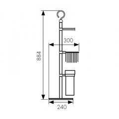 Стойка для ванной комнаты KAISER КН-4615 схема