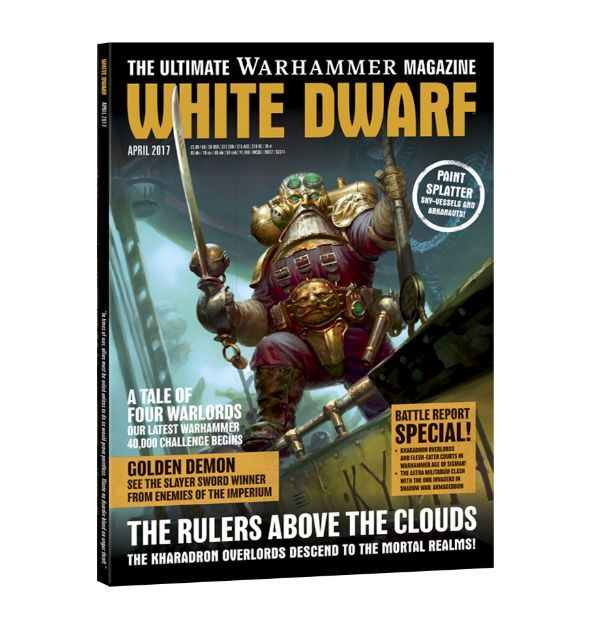 White Dwarf April 2017. Обложка