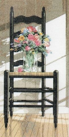 Набор для вышивания Стул с цветами. Арт. 3109