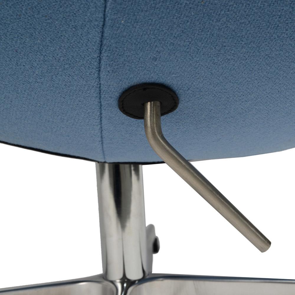 Кресло Arne Jacobsen Style Egg Chair голубая шерсть - вид 6