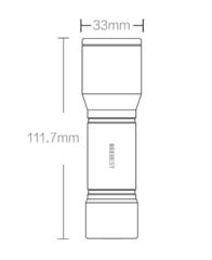 Портативный фонарь beebest portable flashlight f1