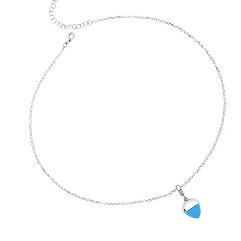 Колье с кулоном Caleida Blue XGR563C BL/S