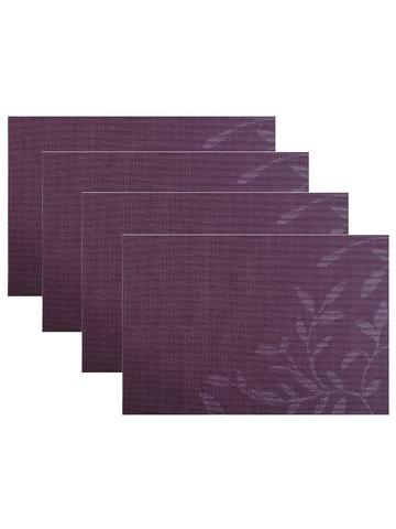 Комплект из 4-х прямоугольных кухонных термосалфеток Dutamel плейсмат салфетка сервировочная - фиолетовые узоры DTM-026 45*30 см