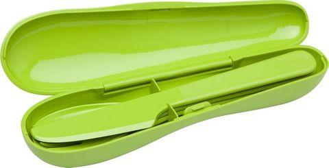 Набор из 3 столовых приборов в футляре Aladdin, зеленый