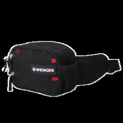 Сумка поясная Wenger Funny Pack, черная/красная, 23х9х7 см