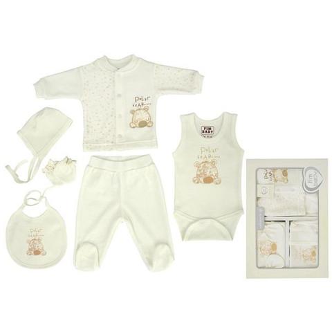 Набор одежды FIMBABY 100864 для детей от 0 до 6 мес. 6 предметов (р.68 бежевый цвет)