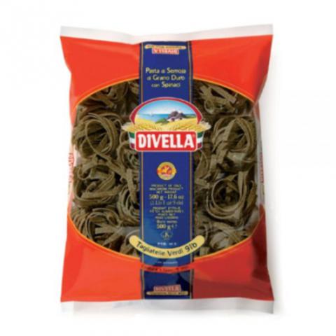 Макароны ТАЛЬЯТЕЛЛЕ/ гнёзда - шпинат (Divella-Italy) Бахрушинъ 0,5кг
