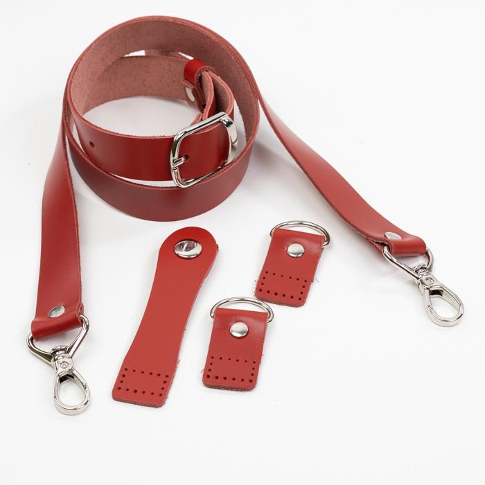 """Комплекты Комплект для сумки-ракушки """"Красный"""" с ручкой через плечо IMG_9275.jpg"""