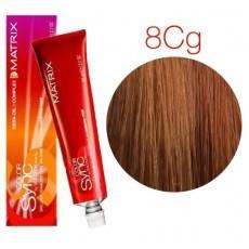 Matrix Color Sync: Copper Gold 8CG светлый блондин медно-золотистый, крем-краска без аммиака, 90мл