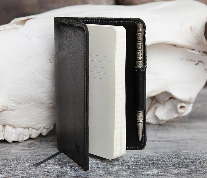 BC136-1 Кожаный блокнот ручной работы со сменным блоком (А6) фото 04