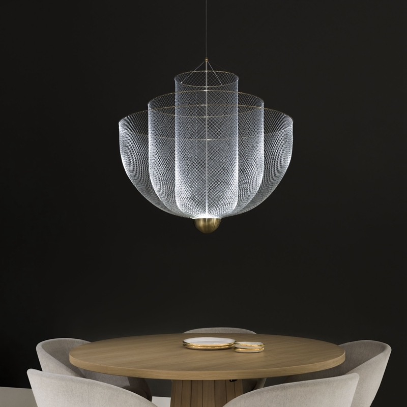 Подвесной светильник копия Meshmatics by Moooi D60 (золотой)