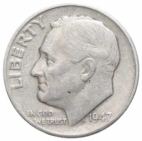 1 дайм (10 центов) 1947. США VF Серебро
