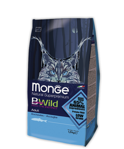 Сухой корм Monge Bwild Adult Cat Anchovies