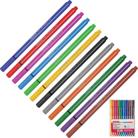 Набор линеров Attache Rainbow 12 цветов (толщина линии 0.33 мм)