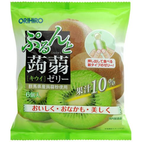 Желе конняку Orihiro с натуральным соком киви 6 шт 120 гр