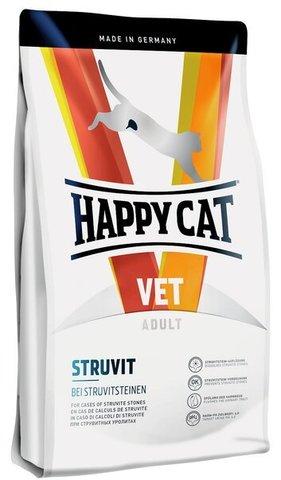 купить Happy Cat VET Diet Struvit сухой корм для взрослых кошек при мочекаменной болезни струвитного типа 4 кг