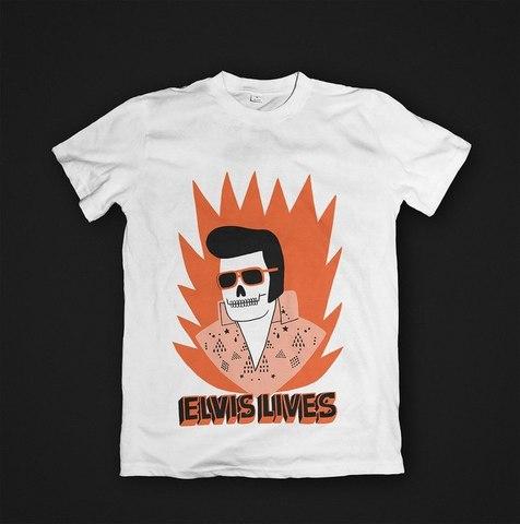 Футболка Elvis Lives - XL