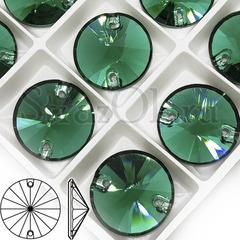 Купить пришивные стразы DeLux Emerald, Rivoli на Алиэкспресс