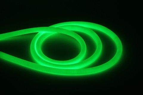 Гибкий неон круглый SMD2835-120 LED/м-220 В-6,5 Вт/м-IP67-зелёный (25м) TDM